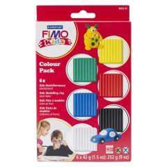 Fimo kids zestaw modelin 6x42g (0, 1, 2, 5, 9, 33)
