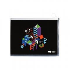 Happy Color teczka z suwakiem me&city B4 miks wzorów