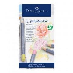 Faber-Castell kredki akwarelowe goldfaber aqua pastel 12 kolorów