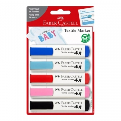 Faber-Castell zestaw 5 markerów do tkanin baby shower blister