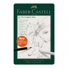 Faber-Castell zestaw 8 ołówków pitt graphite matt + akcesoria