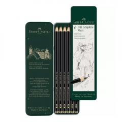 Faber-Castell zestaw 6 ołówków pitt graphite matt