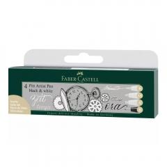 Faber-Castell pitt artist pen black&white 4 szt