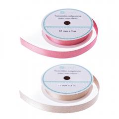 DP Craft tasiemka satynowa z brokatem czerwona 3m