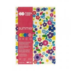 Blok Happy Color deco summer 5 kolorów A4 170 g 20 ark