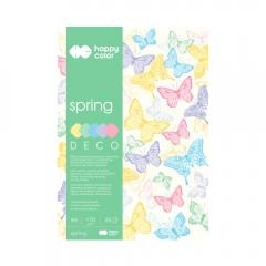 Blok Happy Color deco spring 5 kolorów A4 170 g 20 ark