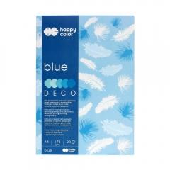Blok Happy Color deco blue 5 kolorów A4 170 g 20 ark