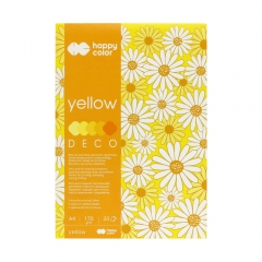 Blok Happy Color deco yellow 5 kolorów A4 170 g 20 ark