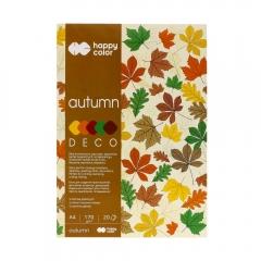 Blok Happy Color decor forest 5 kolorów A4 170 g 20 ark