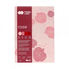 Blok Happy Color deco rose 4 kolory A4 170 g 20 ark