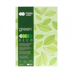 Blok Happy Color deco green 5 kolorów A4 170 g 20 ark