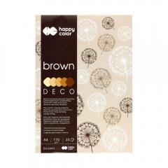 Blok Happy Color deco brown 5 kolorów A4 170 g 20 ark