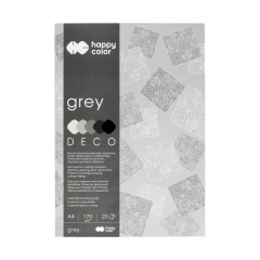 Blok Happy Color deco grey 5 kolorów A4 170 g 20 ark