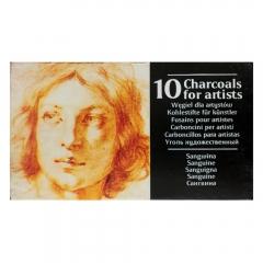 Renesans węgiel rysunkowy prasowany w sztabkach sangwina 10 sztuk