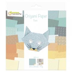 Avenue mandarine furs papier do origami 20x20 60k 70g