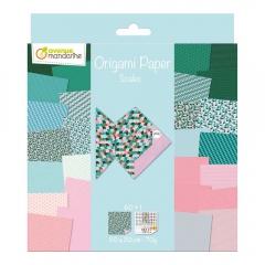 Avenue mandarine scales papier do origami 20x20 60k 70g