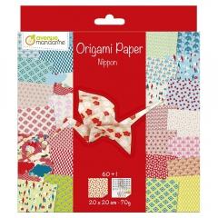 Avenue mandarine nippon papier do origami 20x20 60k 70g