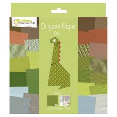 Avenue mandarine dino papier do origami 20x20 60k 70g