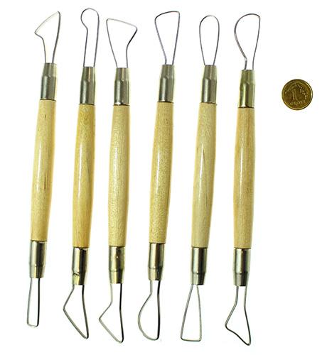 Zestaw narzędzi do modelowania profil płaski - 6 sztuk