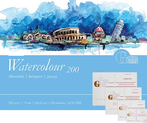 Blok Gamma watercolour 15 arkuszy 200g