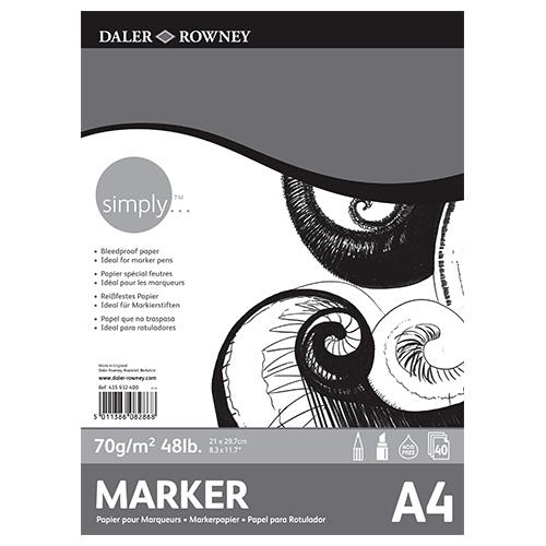 Blok Daler Rowney simply marker pad 70g 40ark