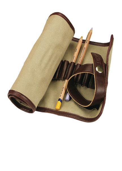 Derwent etui materiałowe na kredki i ołówki ok. 30szt