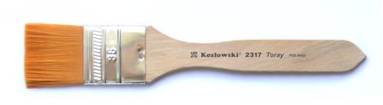 Kozłowski pędzle syntetyczne płaskie seria 2317