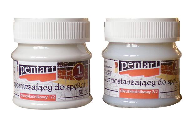 Pentart decoupage werniks do spękań dwuskładnikowy 50ml