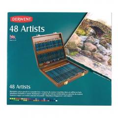 Derwent artist zestaw 48 artystycznych kredek drewniana kaseta
