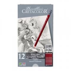 Cretacolor cleos zestaw ołówków grafitowych 12 sztuk