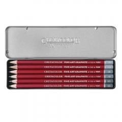 Cretacolor cleos zestaw 6 ołówków grafitowych