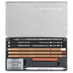 Cretacolor artino zestaw do szkicowania 10 elementów