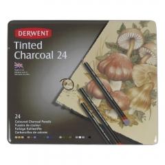 Derwent zestaw węgli kolorowych w kredce 24 kolory