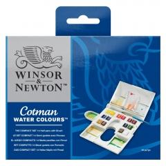 Winsor&Newton cotman the compact set zestaw akwareli 14 półkoste
