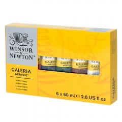 Winsor&Newton galeria zestaw farb akrylowych 6x60 ml