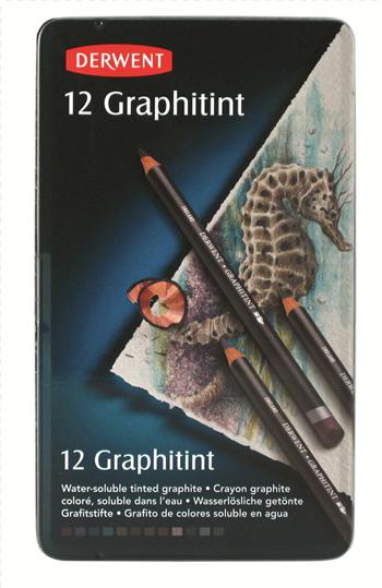 Derwent graphitint kolorowe ołówki grafitowe 12 kolorów