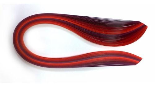 Paski do quillingu, odcienie czerwieni 3, 5, 10 mm