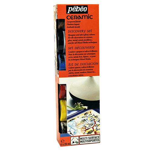 Pebeo ceramic zestaw farb do szkła 6x20ml 756451