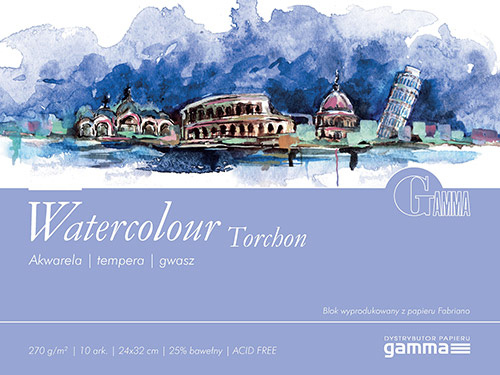 Blok Gamma watercolour torchon 270g 10ark