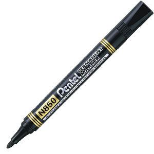 Pentel markery permanentne czarne oraz kolorowe