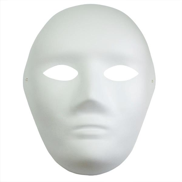 Maska z paper mache z gumką-twarz dorosła