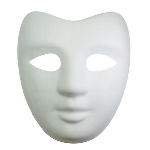 Maska z paper mache z gumką - twarz aktora
