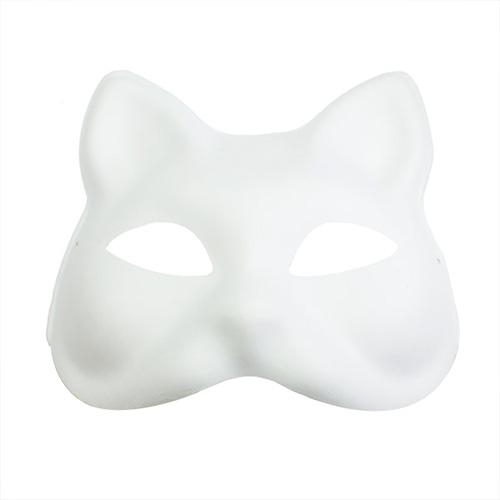 Maska z paper mache z gumką - kot