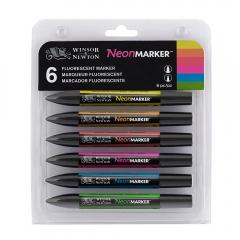 Winsor&Newton promarker neon zestaw 6 kolorów 0290136