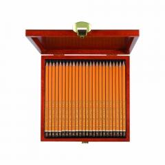 Koh-i-noor zestaw 24 ołówków grafitowych 8B-10H drewniana kaseta