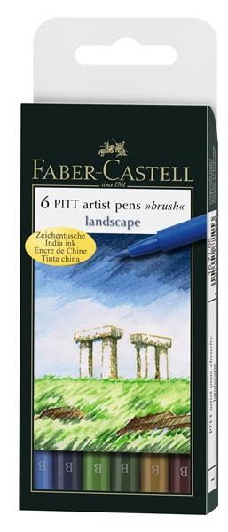 Faber-Castell pitt landscape zestaw 6 pisaków