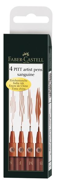 Faber-Castell pitt sanguine zestaw 4 pisaków