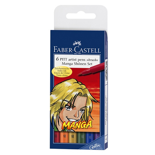 Faber-Castell pitt manga shonen zestaw 6 pisaków