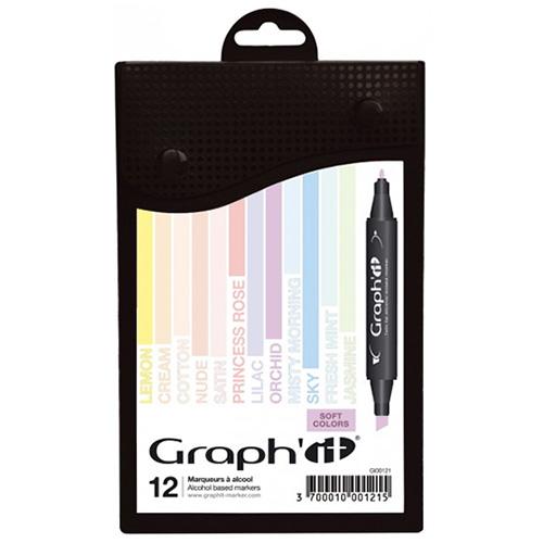 Graphit soft colors zestaw 12 markerów