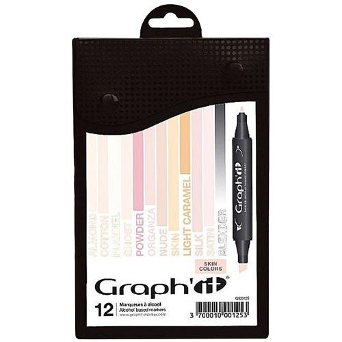 Graphit skin zestaw 12 markerów